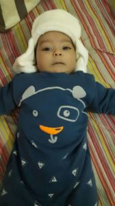 Baby Yaacov in New Winter Suit