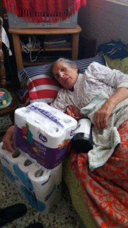 Elderly woman in Sderot