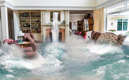 Home being flooded from Hurricane