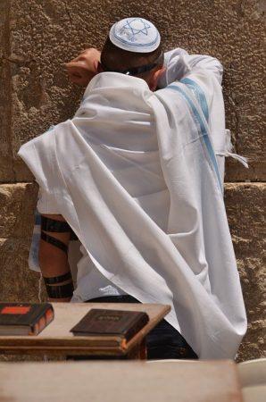 Prayer in Jerusalem at Kotel