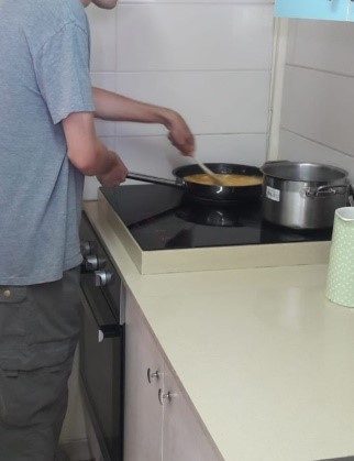 Disabled Youth Cooking