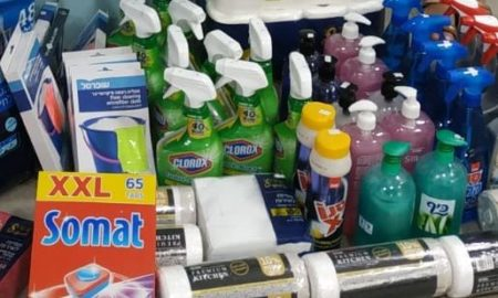 Donated Cleaning Supplies to Day Center