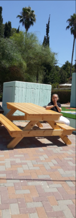 Ben Shemen picnic table donated from Israel Relief Aid
