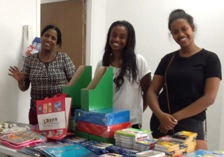 Ethiopian Israeli mothers during Israel Relief Aid School Supply event