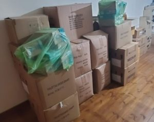 Boxes of Israel Relief Aid