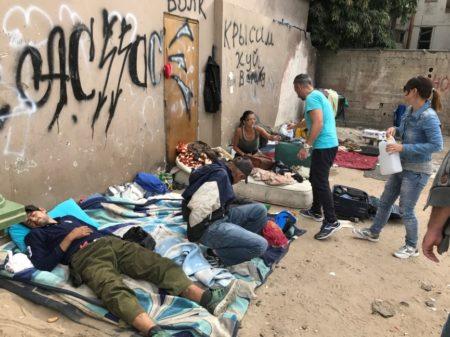 Homeless people in Tel Aviv