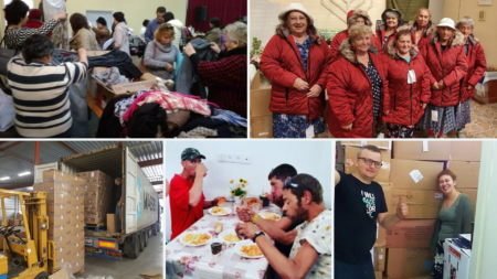 Holocaust Survivors, Israeli immigrants and homeless  receiving help