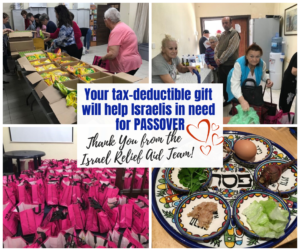 Israel Relief Aid Passover Outreach Donate button