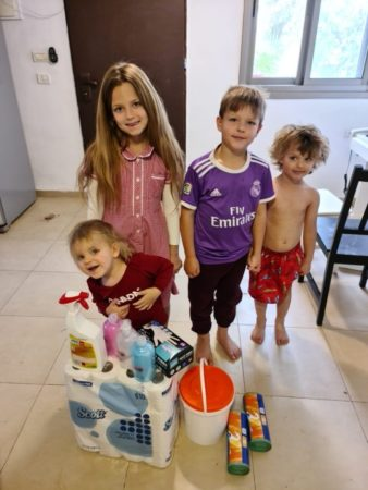Family receives COVID-19 supplies from Israel Relief Aid