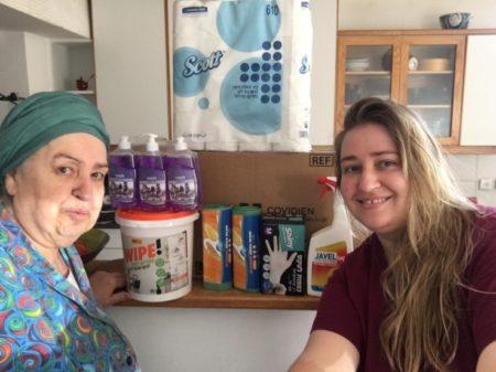 Israel Relief Aid visit to Holocaust Survivor