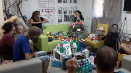 Ben Shemen Day Center Disabled Youth and Staff