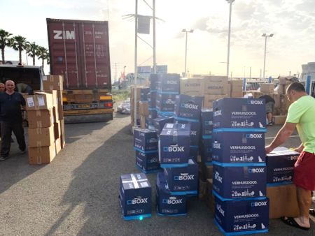 Nazareth Aid Center picks up free aid from newest Israel Relief Aid container