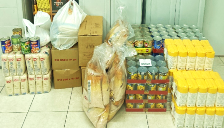 Bat Yam receives gift of groceries from Israel Relief Aid