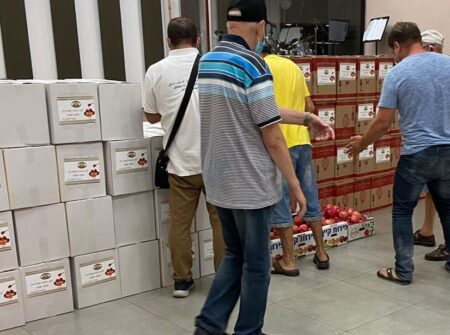 Israel Relief Aid food delivery for Holocaust Survivors for Rosh HaShanah