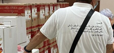 Nazareth Aid Center receives food for high holidays from Israel Relief Aid