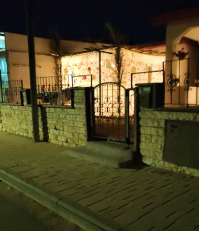 Sukkah in Sderot at night