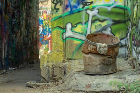 Street art in alley Tel Aviv