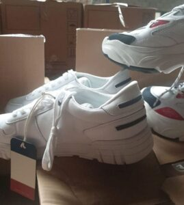 New pairs of athletic shoes donated to Haifa Aid Center from Israel Relief Aid
